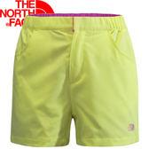 【The North Face 女 SCafe短褲 哈瑪奇黃】 NF00CZR4/短褲/休閒短褲★滿額送