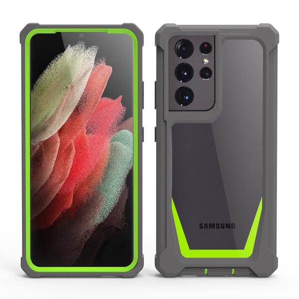 SamSung S21保護套 二合一Galaxy S21 Ultra手機套 三星簡約創意S21+手機殼 三星個性防摔保護殼