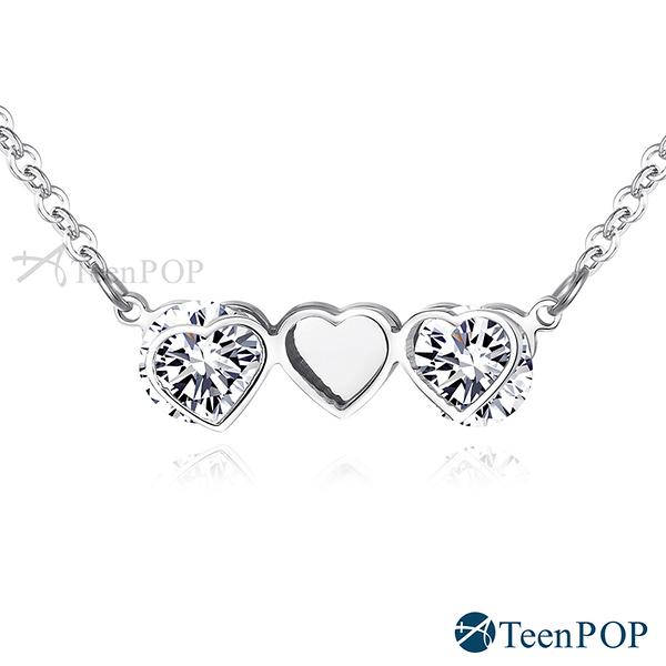 鋼項鍊 ATeenPOP 美妙奇遇 愛心 兩款任選 女項鍊 聖誕禮物