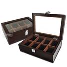 低調奢華 手錶收藏盒 配件收納 腕錶收藏盒 8入收藏 實木質感 - 深紅褐木色 #815-8W-01-DBR