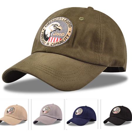 歐美老鷹刺繡純棉棒球帽 加長帽簷運動帽 運動遮陽帽 5色【E297483】
