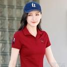 POLO衫純棉短袖/長袖T恤女新款春翻領POLO衫韓版寬鬆女士上衣打底衫 快速出貨