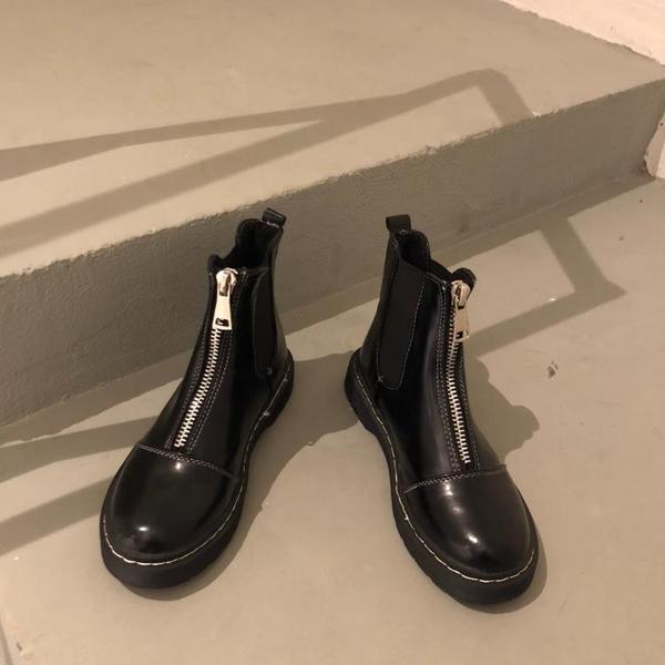 短靴 chic馬丁靴女新款韓版英倫風學生韓版百搭網紅ins短筒小短靴 (快速出貨)