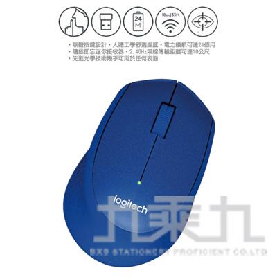 96#羅技M331靜音無線滑鼠-藍
