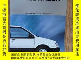 二手書博民逛書店1985年4月罕見MITSUBISHI 三菱 Space Wagon 太空車 轎車 汽車 樣本 目錄 畫冊 宣傳冊
