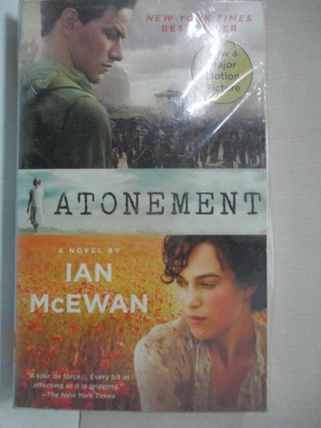 【書寶二手書T1/原文小說_GJV】Atonement_McEwan
