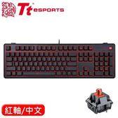 Thermaltake 曜越 拓荒者Pro 背光機械鍵盤Cherry 紅軸 中文【現省$800~再送全區寬鼠墊