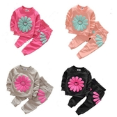 長袖套裝 花朵毛圈家居服套裝 嬰幼兒童裝 SK180 好娃娃