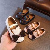 女童皮鞋公主鞋韓版兒童豆豆鞋軟底單鞋【南風小舖】