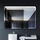 (圓角35*45可掛可粘) 浴室鏡子免打孔壁掛洗手間鏡子化妝鏡廁所鏡子貼墻衛生間鏡子 雙十二8折