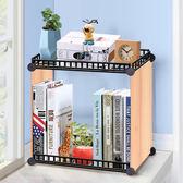 簡易組合鐵藝創意多功能辦公室收納架折疊特價學生寢室桌上小書架igo 全館免運