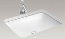 【麗室衛浴】美國 KOHLER活動促銷 FOREFRONT系列 方型下崁盆 K-2949T-0 618*450*175mm