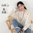 LULUS【A01210312】M透膚短版襯衫5色
