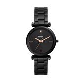 FOSSIL簡約個性黑鋼腕錶ES4442