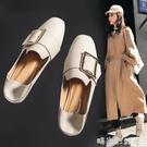 豆豆鞋女鞋2020年新款夏季小皮鞋一腳蹬百搭樂福鞋子女夏款單鞋女「時尚彩紅屋」
