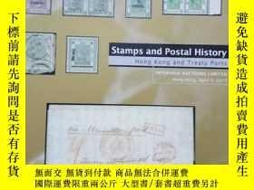 二手書博民逛書店stamps罕見and postal history Hong Kong and treaty portsY1