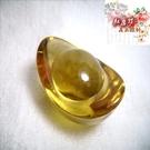 【Ruby工作坊】NO.2 一顆優質大黃水晶元寶(加持祈福)