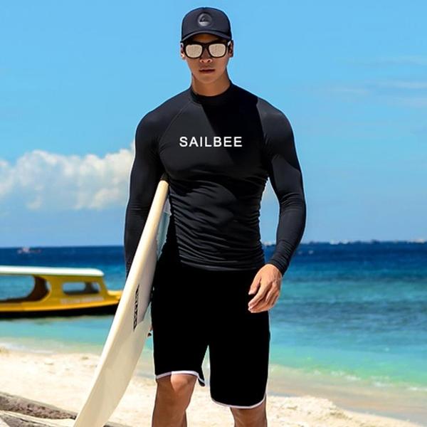 水母衣潛水服男分體情侶套裝水母衣沖浪浮潛服防曬游泳衣長袖長褲三件套【618優惠】