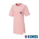K-SWISS Crew Neck Dress 印花短袖T恤-女-粉紅