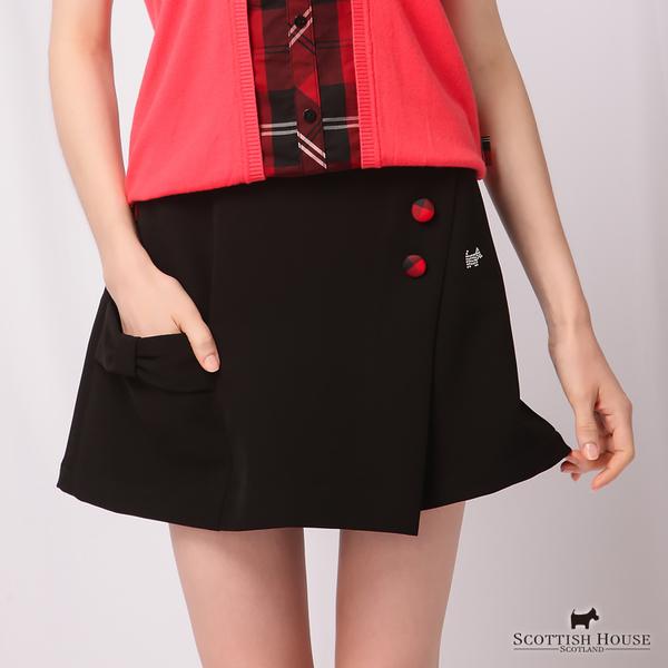 裝飾釦與大蝴蝶結口袋造型褲裙 Scottish House【AD2257】