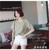 長版上衣 女裝長版短袖寬鬆新款韓版上衣夏季 AW3247『愛尚生活館』