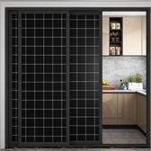 窗貼 窗戶全遮光黑色自粘貼紙不透光玻璃貼膜防走光浴室防曬遮陽窗花貼 LW720