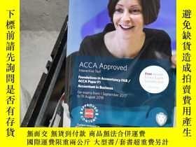 二手書博民逛書店ACCA罕見Approved Foundations in Accountancy FAB. ACCA Paper