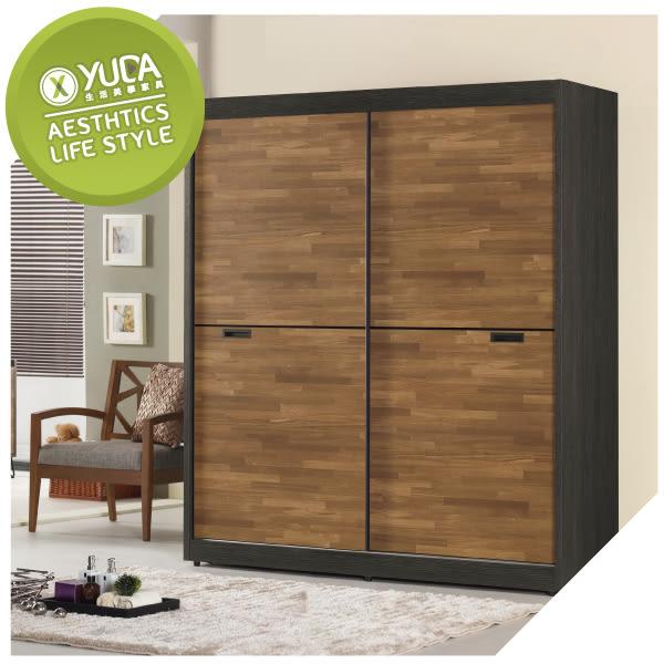 衣櫥【YUDA】柏德 5尺 拉門 衣櫥(附內鏡)/衣架/衣櫃 J8M 046-1