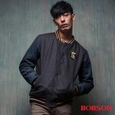 BOBSON 男款毛呢棒球外套 (35039-87)