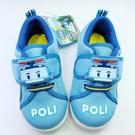 【樂樂童鞋】【台灣製現貨】POLI波力圖案休閒鞋-藍 P013 - 現貨 台灣製 男童鞋 休閒鞋 小童鞋