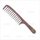 髮舖T806電木粗齒線條大關刀梳子[34007]