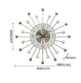 掛鐘 鐘表掛鐘客廳北歐創意時鐘大氣靜音現代簡約掛鐘時尚藝術掛墻鐘表【快速出貨八折鉅惠】