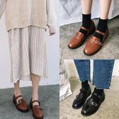 娃娃鞋韓版甜美夏季新款復古圓頭女學生娃娃休閒小皮鞋 XY997 【男人與流行】