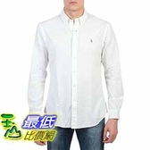 [COSCO代購] Polo Ralph Lauren 男長袖純棉牛津襯衫 白 _W1014548-WHT