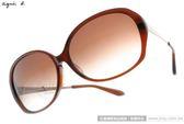 agnes b.太陽眼鏡 AB2801 DB (棕) 流行元素經典百搭款 # 金橘眼鏡