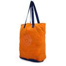 Kipling經典Basic尼龍HipHurray5雙色摺疊購物袋(夕陽黃)460172-118