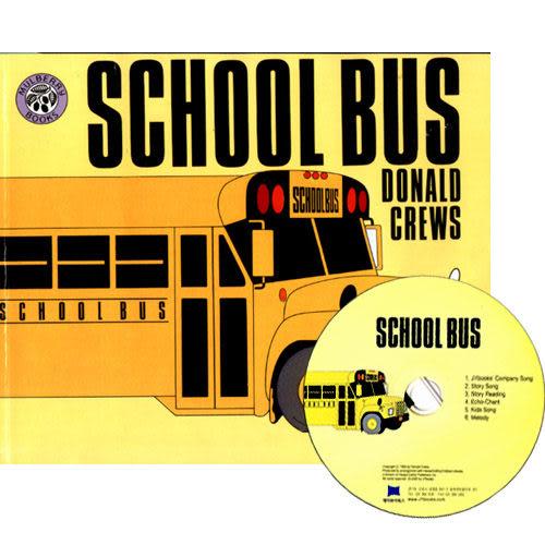 【麥克書店】SCHOOL BUS /平裝繪本+CD 《主題: 認識》