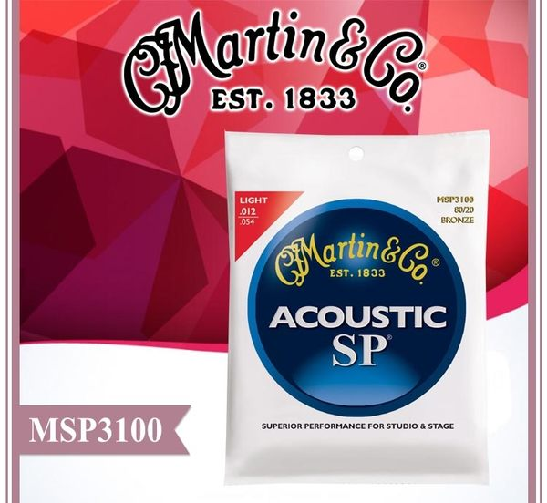 【小麥老師樂器館】【T206】►現貨►原廠公司貨 Martin 馬丁 MSP3100 12-54 民謠吉他弦