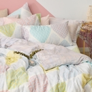 床包被套組 / 雙人【粉彩優格】含兩件枕套 60支天絲 戀家小舖台灣製AAU212
