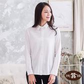 【岱妮蠶絲】透氣合身長袖女蠶絲襯衫(白)