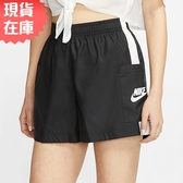 【現貨】NIKE Sportswear 女裝 短褲 休閒 慢跑 梭織 輕量 側口袋 透氣 黑【運動世界】CJ1689-010
