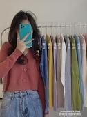 熱賣針織開衫 秋冬季新款外穿韓版V領長袖針織衫女寬鬆短款開衫上衣毛衣潮 萊俐亞