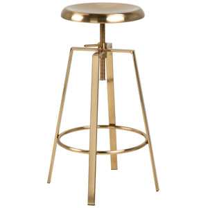 艾倫吧檯椅 Goose barstool/metal brushed chrome