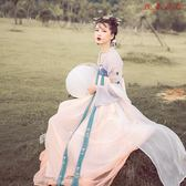 女古裝齊胸襦裙對襟漢服繡花刺繡舞蹈服 衣普菈
