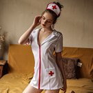 角色扮演-俏皮小護士-iVenus-性感誘惑深V顯瘦小護士角色扮演成套睡衣 玩美維納斯 平價睡衣