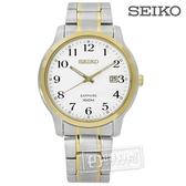 SEIKO 精工 / 7N42-0GE0G.SGEH68P1 / 都會時尚 藍寶石水晶 不鏽鋼手錶 白x金框 41mm