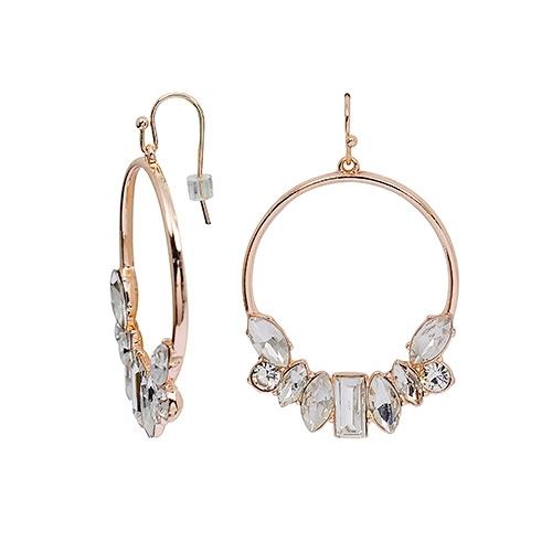 8 Other Reasons 幾何寶石圓環造型針式耳環