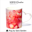 (24H) 客製 愛心 彩繪 馬克杯 Mug 渲染 氣泡 玫瑰 花瓣 咖啡杯 陶瓷杯 杯子 Sara Garden手作【M0320031】