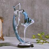 家居飾品創意小擺件現代簡約客廳酒櫃裝飾品北歐室內個性工藝擺設 鹿角巷YTL