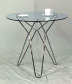 768-1 K636 80圓玻璃桌 (10mm強化玻璃/電金) φ80×H74公分